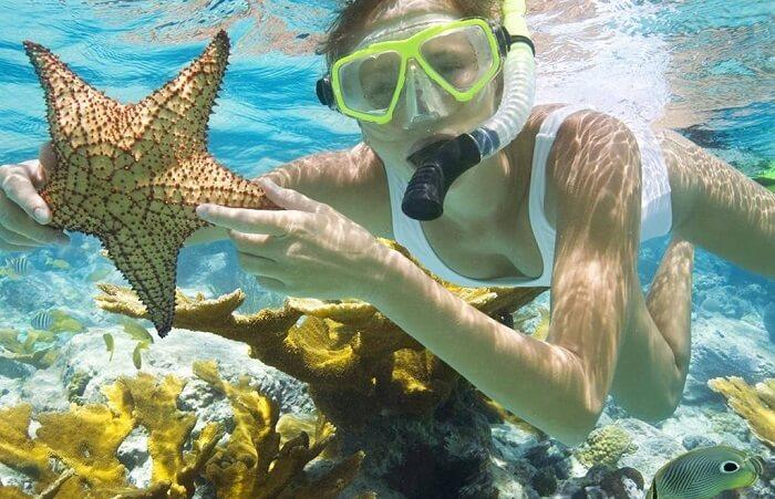 Lặn snorkel ngắm san hô khá thú vị